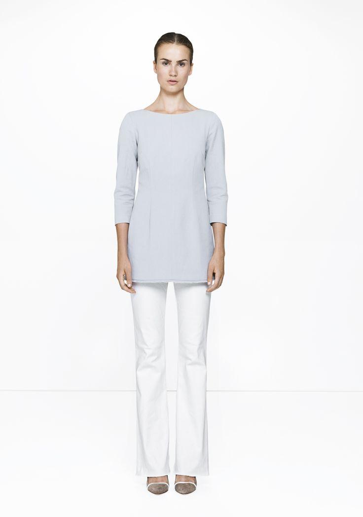 White Brooke pants & tunic - 455/9166-8405  ELISE GUG SS15