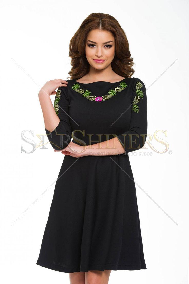 StarShinerS Brodata Bamboo Black Dress