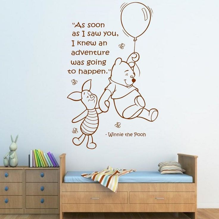17 best nursery wall quotes on pinterest baby room for Classic pooh wall mural