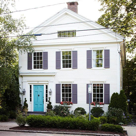 Best Exterior Color Schemes Exterior Colors Turquoise And Blue Doors