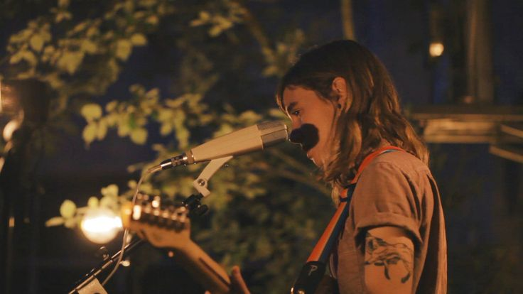 Careful, Julien Baker could easily become one of your all time favorite artist. In June she played her unreleased song Funeral Pyre for us, SOMEWHERE IN MUNI...