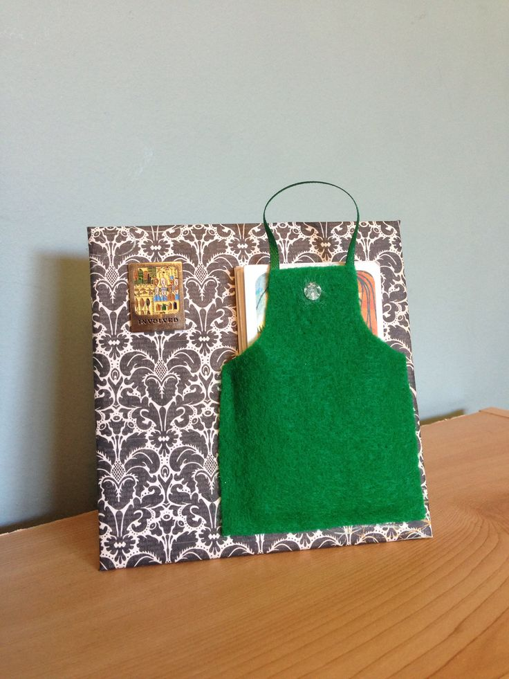 Starbucks green apron card holder