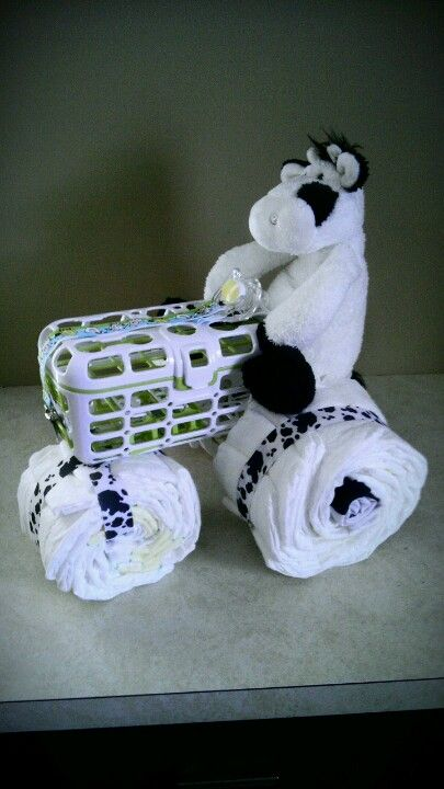 Diaper tractor-perfect for a farm themed baby shower