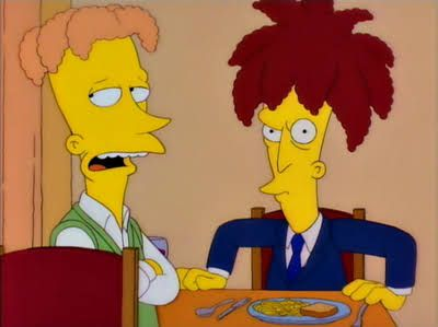 """Brother From Another Series"" After being let go and turning a new leaf Sideshow Bob's brother Cecil has a plan of his own. The episode title is a play on the movie ""The Brother from Another Planet"" and also a reference to the fact that guest stars Kelsey Grammer (Frasier Crane) and David Hyde Pierce (Niles Crane) also played brothers on Frasier."