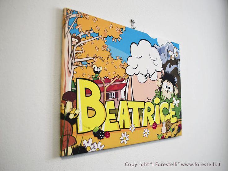 33 migliori immagini quadri col nome per bambini su pinterest - Quadri per cameretta ...