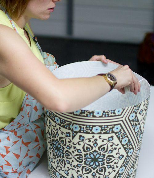 upholstery basics: how to make a lampshade | Design*Sponge