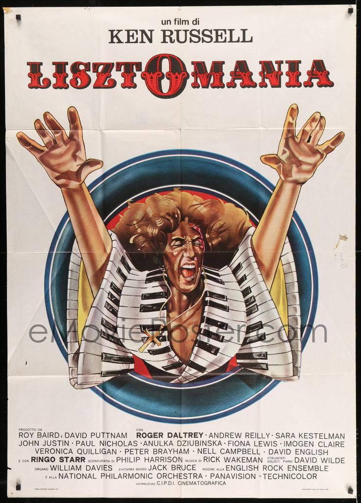 eMoviePoster.com Image For: 7t521 LISZTOMANIA Italian 1p 1977 Ken Russell directed, cool different artwork of Roger Daltrey!