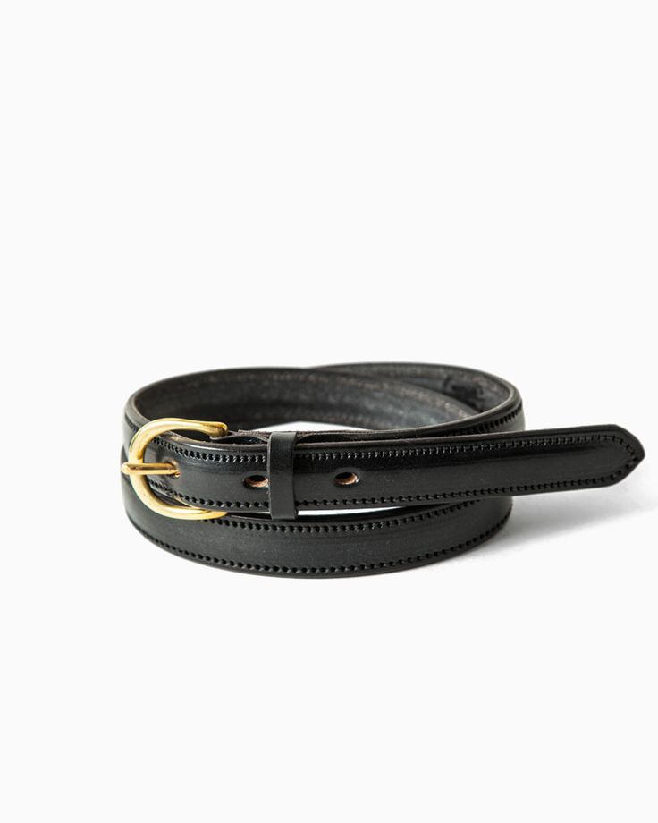 CLEVEDON - Handmade leather women's belt, stocked by Frame Fukukoa in Japan