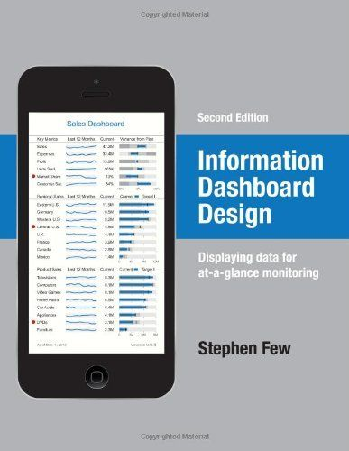 Information Dashboard Design: Displaying Data for At-a-Glance Monitoring by Stephen Few (2013). Bibsys: http://ask.bibsys.no/ask/action/show?kid=biblio&cmd=reload&pid=132730103