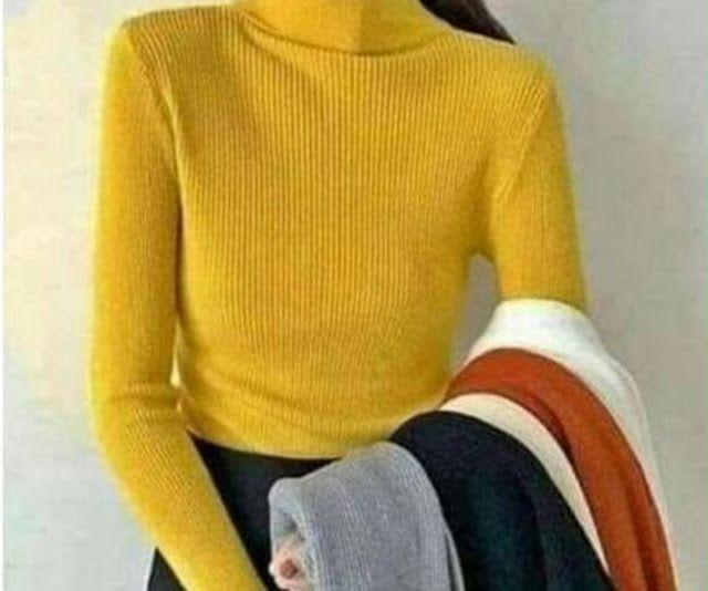 تريكو الصوف بالكمام طويلة لنساء خمسة ب 229 درهم للبيع على الأنترنيت في المغرب تخفيضات على مواقع البيع على الأنترنيت في المغرب Sweaters Fashion Turtle Neck