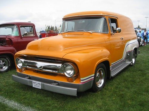 1950s Ford f100 panel truck.