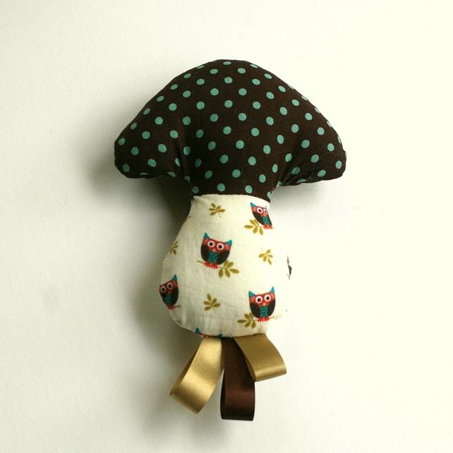 Baby mushroom rattle ( spots and owls): Fabrics Baby, Baby Mushrooms