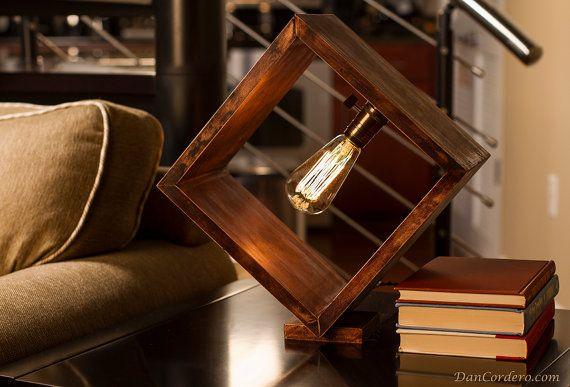 Shadow Box Edison Lamp Table Lamp Desk Lamp by DanCordero