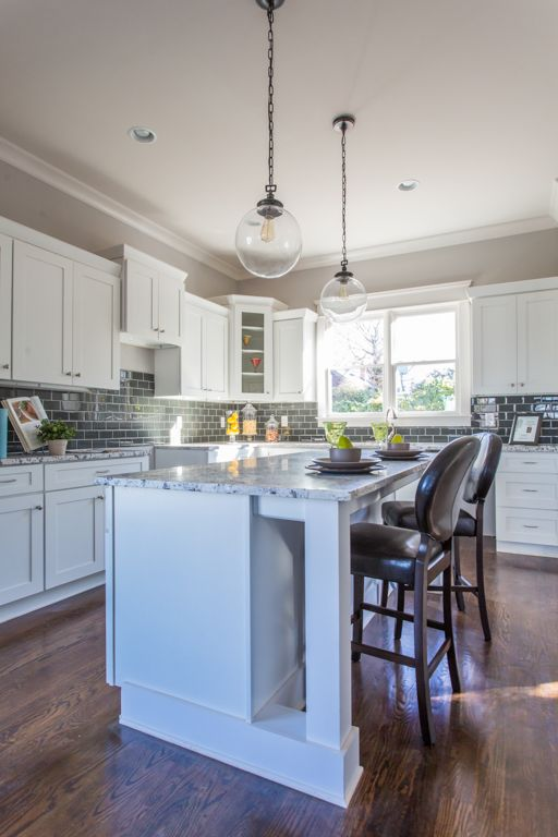 We Love This Atlanta Grant Park Kitchen With Craftsman Details Clean White Cabinets And Glass