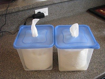 Make your own cleaning wipes yes I use a lot of these!!