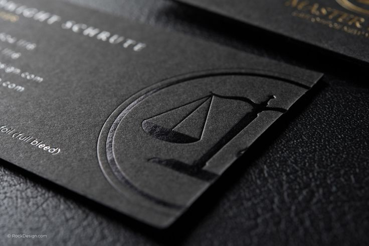 Classic modern black duplex attorney business card template - Master Law   RockDesign Luxury Business Card Printing