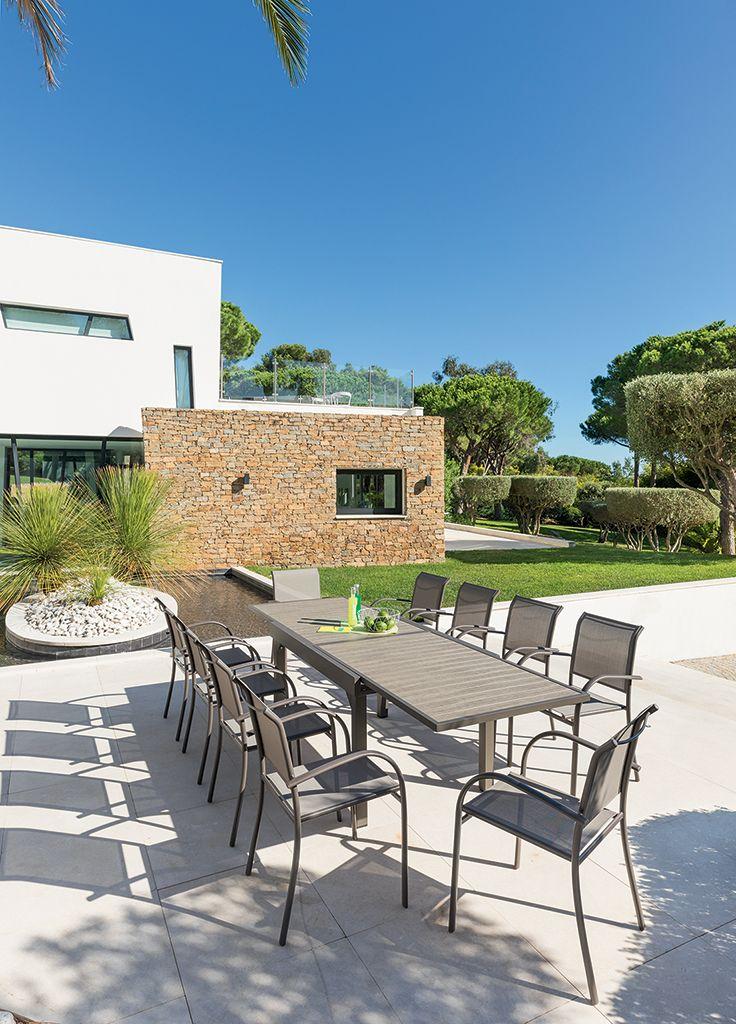 Table de jardin extensible Piazza Noisette et Tonka. La ...