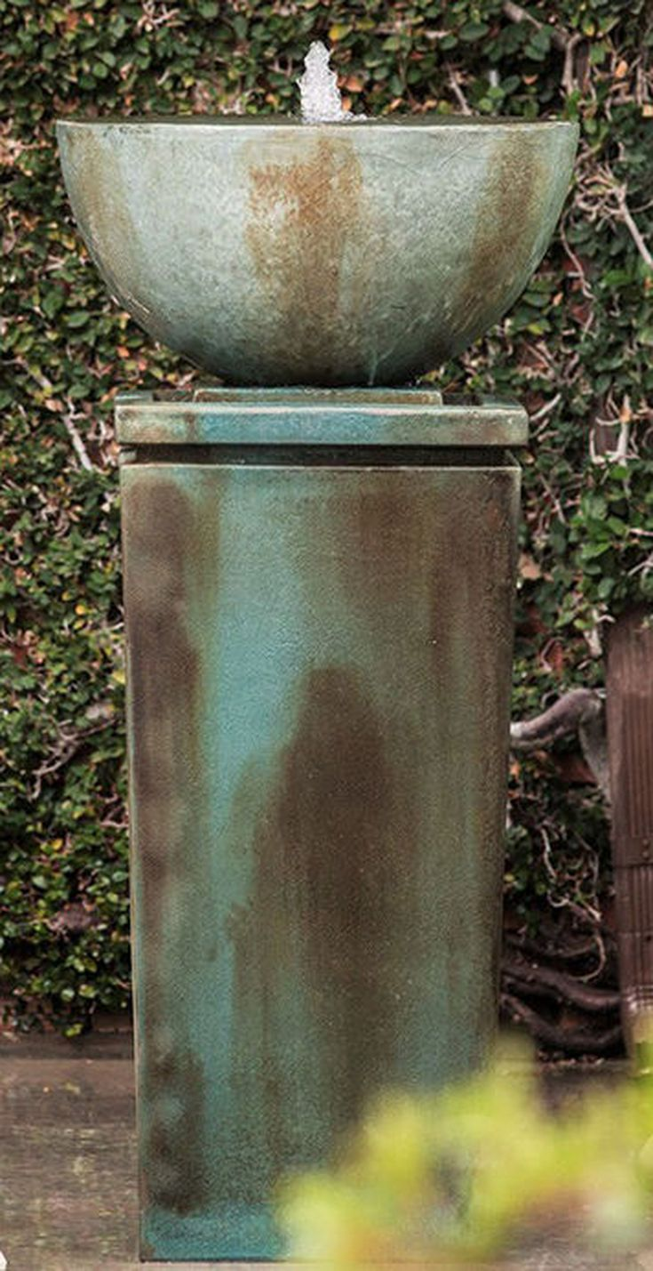 Ensure your outdoor garden or landscape inspires peace and tranquility with the addition of the Zen Bowl Outdoor Fountain. This durable fiberglass reinforced cast-cement fountain will create a relaxing space with the soothing sound of gently cascading water.