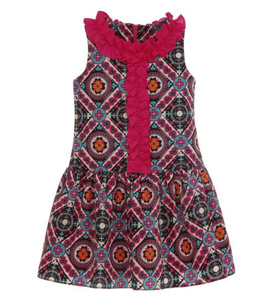 Color Theory Printed Sateen Dress