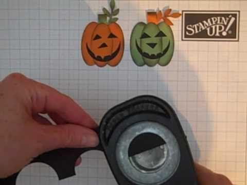 Stampin' Up! Punch Art Pumpkin