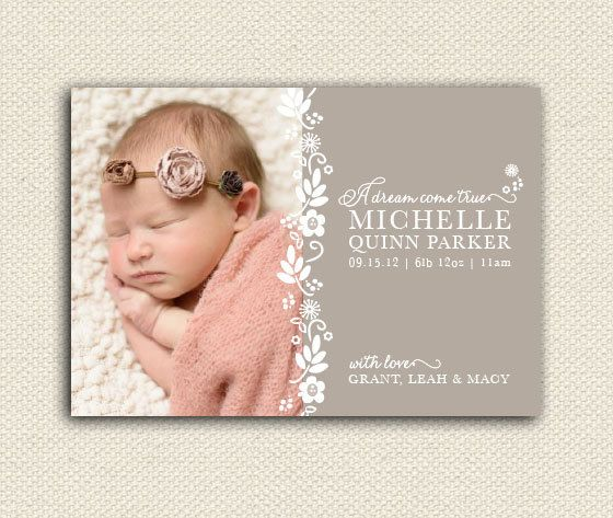 Baby Announcements Birth Announcements Photo by lemonseedandco, $22.00