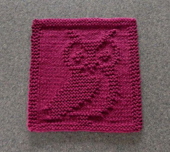 Owl Dishcloth Knitting Patterns Free : Best knit dishcloths images on pinterest hand