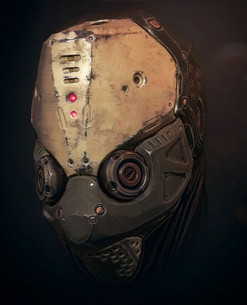 ArtStation - Mech Head , by Tris Baybayan  More robots here.