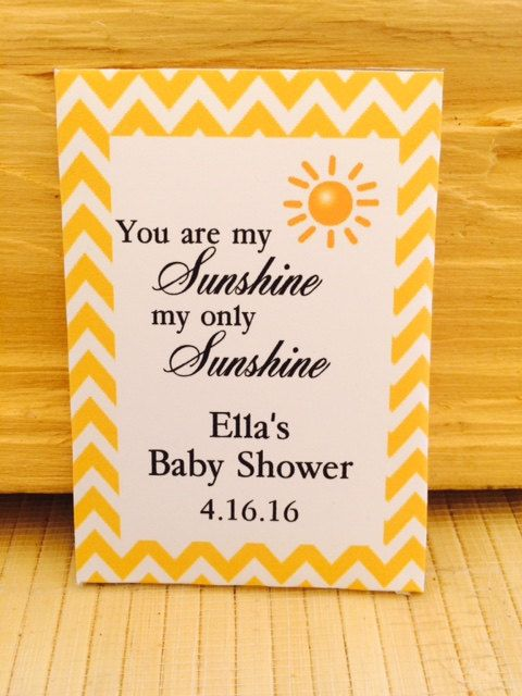 you are my sunshine baby baby shower favors baby shower seed packets