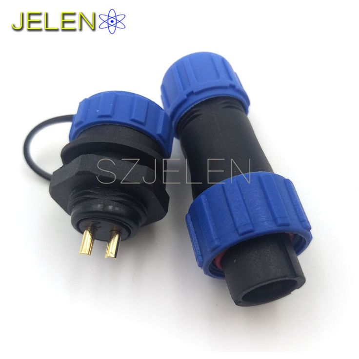 WEIPUSP1310, 2 pin waterproof connector, Power wire connectors, cable connectors , automotive connectors, Plug and socket, IP68
