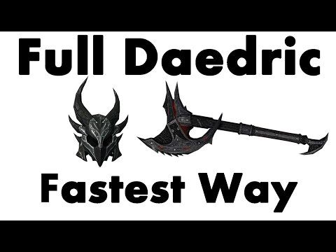 WN - skyrim how to get and forge daedric armor (xbox 360)