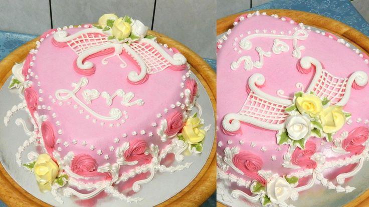 Украшение торта с зеркальной глазурью 23
