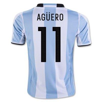 Argentina 2016 Sergio Aguero 11 Hjemmebanetrøje Kortærmet.  http://www.fodboldsports.com/argentina-2016-sergio-aguero-11-hjemmebanetroje-kortermet-1.  #fodboldtrøjer