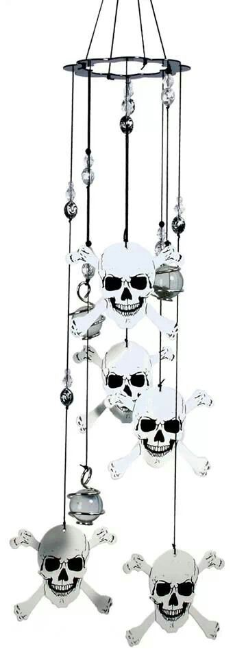 ☆ Spoontiques Skull and Crossbones Wind Chime :¦: Shop Amazon Store → http://www.amazon.com/Spoontiques-Skull-Crossbones-Wind-Chime/dp/B001LJAFZE/ref=sr_1_1?s=lawn-garden&ie=UTF8&qid=1410949149&sr=1-1&keywords=skull+wind+chimes ☆