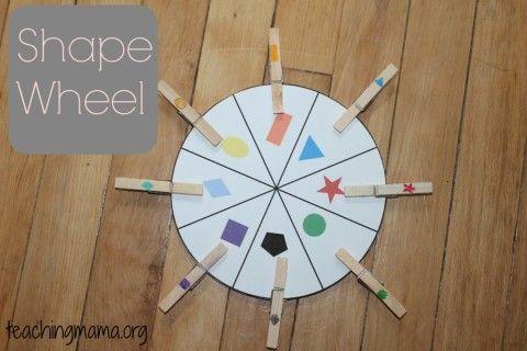 Shape Wheel- Free Printale