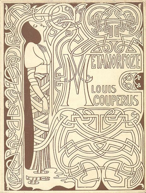 """Book cover by Jan Toorop, 1897, """"Metamorfoze"""" by Louis Couperus."""