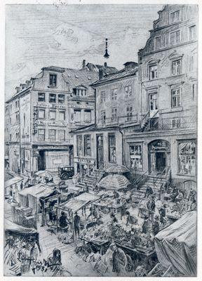 Königsberg (Pr.), Altstädtischer Markt, Zeichnung