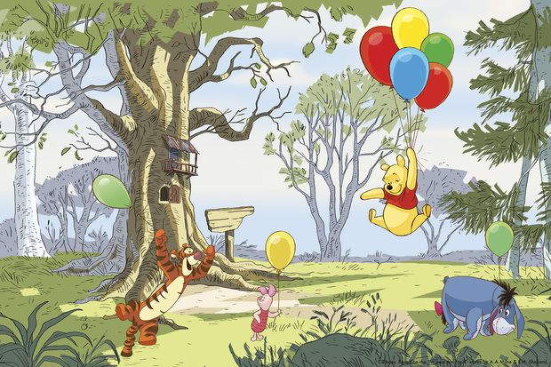 Winnie the Pooh - Up and Away -             Fototapeter & Tapeter -           Photowall