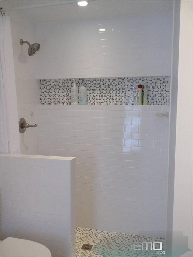 Jul 8 2017 Accent Tile With Horizontal Niche White Subway With Carrara Marble This Would B In 2020 Shower Remodel Master Bathroom Renovation Small Shower Remodel