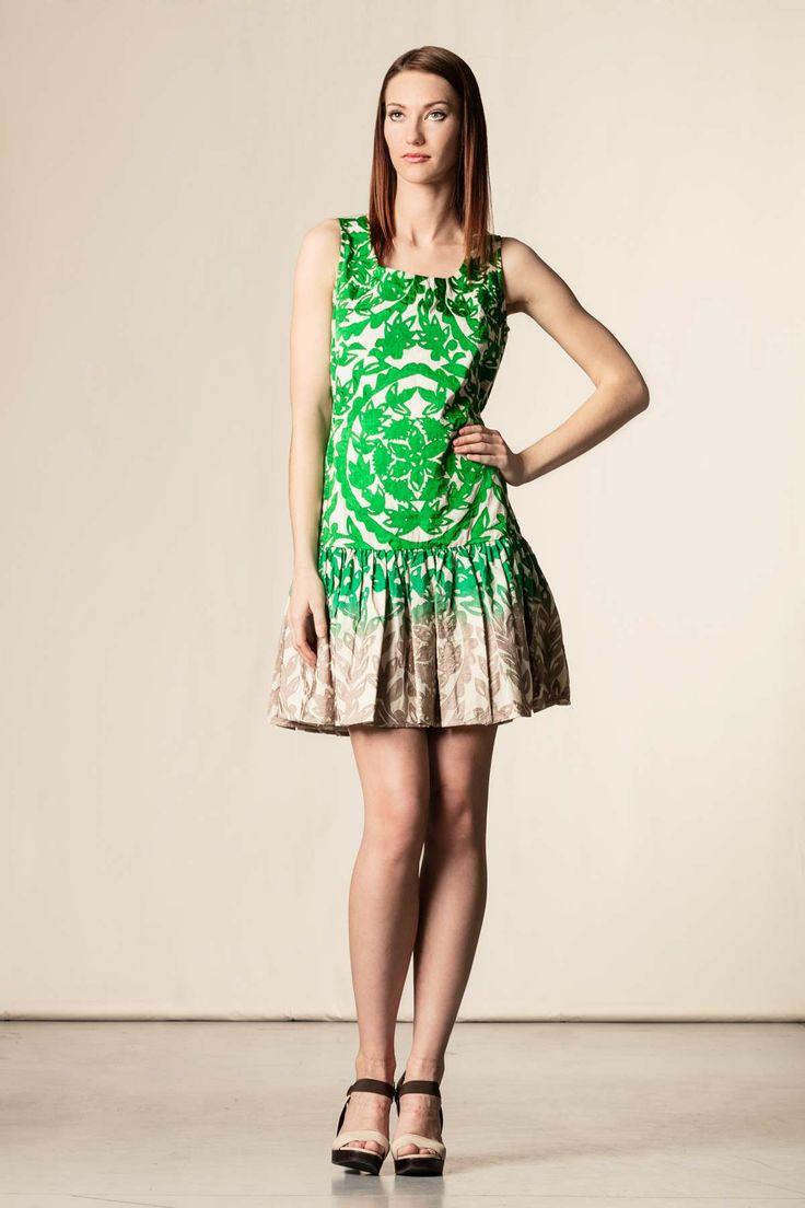 Vestito sfumato lavorazione artigianale verde. #dress #perfectdress #scervinostreet #green