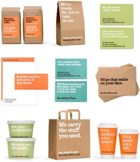 Brooklyn Fare. Identity + packaging by Mucca Design.