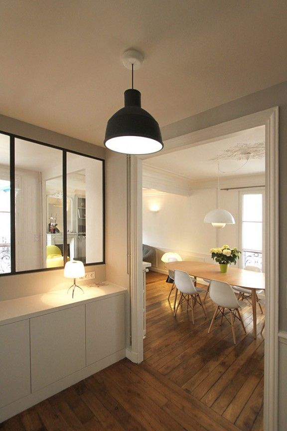 Un appartement haussmannien de 85m2 par camille hermand architectures salon - Decoration appartement haussmannien ...