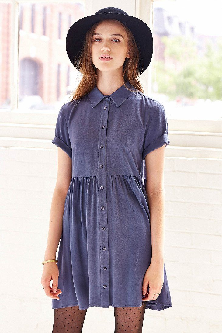 BDG Babydoll Shirtdress -so cute, but as a bigger chested mama i dunno if I can wear it :/
