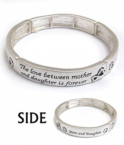 Mother and Daughter Bracelet BE Stretch Bangle Inspiratio... www.amazon.com/...