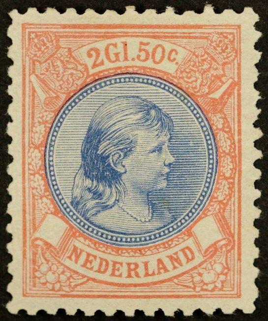 Online veilinghuis Catawiki: Nederland 1893 - Prinses Wilhelmina 'Hangend haar' - NVPH 47