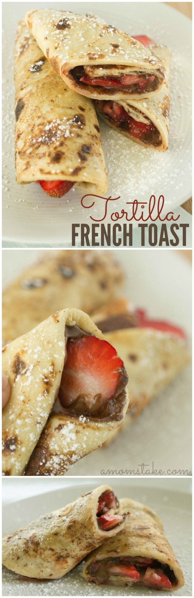 French Toast made with Tortillas