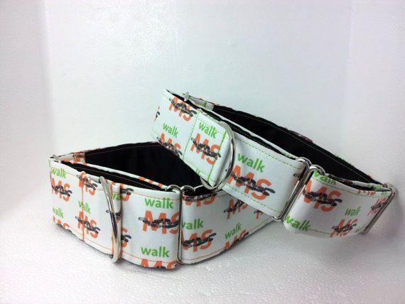 MS Walk Martingale Dog Collar by dogsbythebay on Etsy, $19.99