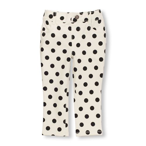 ef38720915642 Baby Girls Toddler Printed Knit Jeggings - White - The Children's ...