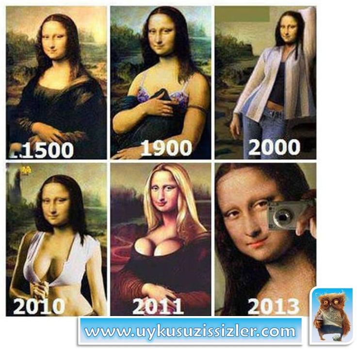 Yüzyıllar boyunca Mona Lisa'daki değişim..