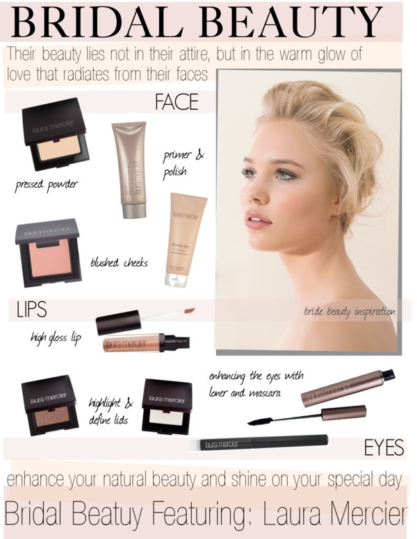 """""""BRIDAL BEAUTY with Laura Mercier Cosmetics"""" by cutandpaste on Polyvore"""