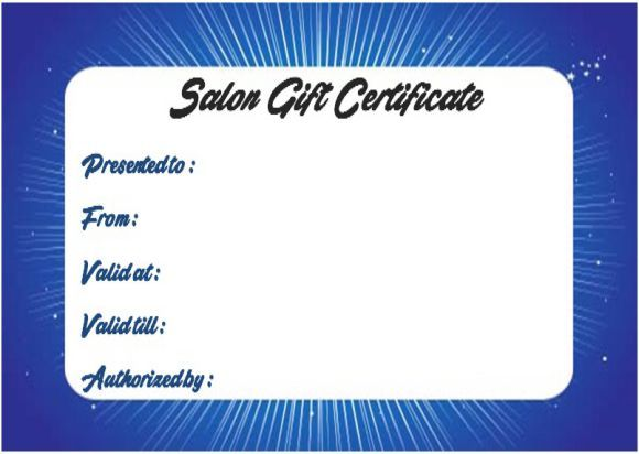 23 best Salon Gift Certificate Templates images on Pinterest - gift certificates samples
